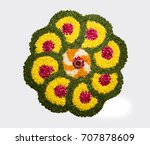 flower rangoli for diwali or... | Shutterstock . vector #707878609