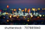 colourful bokeh light of city...