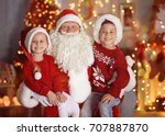 Cute Little Boy And Girl With...
