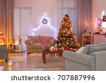 Decorated Living Room With...