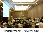 blurred of  presentation in a... | Shutterstock . vector #707891530