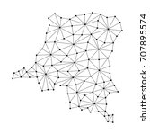 democratic republic congo map... | Shutterstock .eps vector #707895574