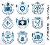 vector vintage heraldic coat of ...   Shutterstock .eps vector #707899228