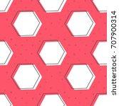 flat line hexagon pattern...   Shutterstock .eps vector #707900314