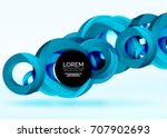 modern 3d ring composition in... | Shutterstock .eps vector #707902693