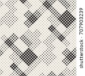 modern stylish halftone texture.... | Shutterstock .eps vector #707903239