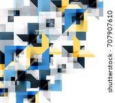 modern square geometric pattern ... | Shutterstock .eps vector #707907610