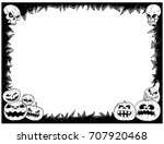 hand drawing cartoon halloween... | Shutterstock .eps vector #707920468