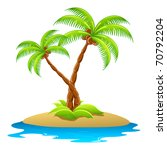 Illustration Of Palm Tree In...