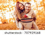 portrait of a young smiling... | Shutterstock . vector #707929168