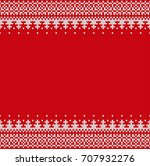 seamless knitting pattern.... | Shutterstock .eps vector #707932276