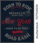 vintage biker graphics and... | Shutterstock .eps vector #707934034