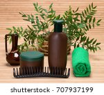 natural hair care cosmetic... | Shutterstock . vector #707937199