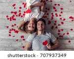 top view of beautiful young...   Shutterstock . vector #707937349