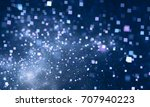 abstract square bokeh.... | Shutterstock . vector #707940223
