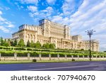 the palace of the parliament ...   Shutterstock . vector #707940670