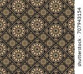 seamless pattern oriental... | Shutterstock .eps vector #707943154