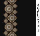 golden frame in oriental style. ... | Shutterstock .eps vector #707943964