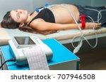 electrocardiogram  cardiac...   Shutterstock . vector #707946508