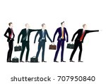 group of young business people. ... | Shutterstock .eps vector #707950840