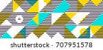 simple banner of decorative... | Shutterstock .eps vector #707951578