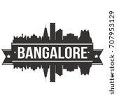 bangalore skyline silhouette...   Shutterstock .eps vector #707953129