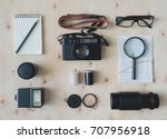 top view of travel concept with ... | Shutterstock . vector #707956918