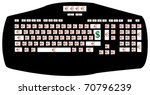 the keyboard of the rich people ... | Shutterstock .eps vector #70796239
