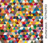 abstract geometric colorful... | Shutterstock . vector #707963953