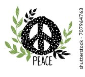 international peace day sign... | Shutterstock .eps vector #707964763