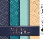 art deco seamless pattern | Shutterstock .eps vector #707969998