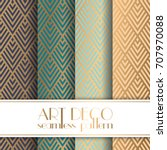 art deco seamless pattern | Shutterstock .eps vector #707970088