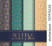 art deco seamless pattern | Shutterstock .eps vector #707970133