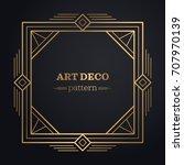 art deco frame background | Shutterstock .eps vector #707970139