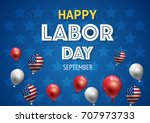 labor day banner template decor ... | Shutterstock .eps vector #707973733