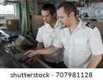 senior navigation officer... | Shutterstock . vector #707981128