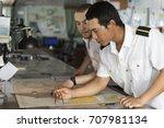 senior navigation officer... | Shutterstock . vector #707981134