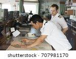 senior navigation officer... | Shutterstock . vector #707981170