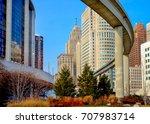 downtown detroit monorail mas...   Shutterstock . vector #707983714