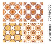 collection of four tiling... | Shutterstock .eps vector #707984770