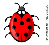 Cute Ladybug Cartoon Isolated...