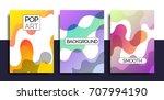 artistic funky design for print ... | Shutterstock .eps vector #707994190