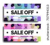 creative discount voucher...   Shutterstock .eps vector #707994313