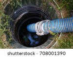 emptying household septic tank. ... | Shutterstock . vector #708001390