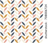 vector seamless pattern with... | Shutterstock .eps vector #708006724
