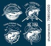 tuna vector logos. sport... | Shutterstock .eps vector #708014320