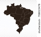 map brazil map. each city and... | Shutterstock .eps vector #708015478