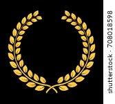 vector golden glitter laurel... | Shutterstock .eps vector #708018598