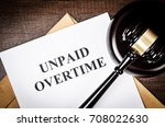 unpaid overtime title on legal... | Shutterstock . vector #708022630