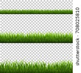 grass border | Shutterstock . vector #708025810